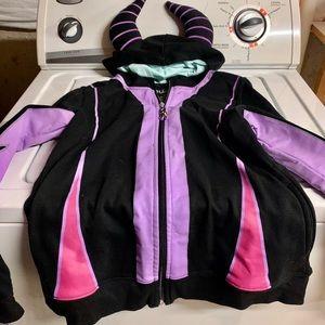 Disney Parks Malificent Costume Hoodie Sweatshirt